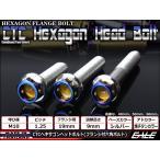 ヘキサゴンヘッドボルト CTC フランジ付六角ボルト M10×65mm ステンレス シルバー/焼チタンカラー