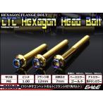 ヘキサゴンヘッドボルト CTC フランジ付六角ボルト M6×60mm ステンレス ゴールド/焼チタンカラー