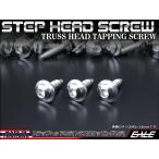 M4×16mm ステップヘッドネジ タッピングネジ ステンレス 削り出し トラス頭 カウルやパネルなどに シルバー TC0032