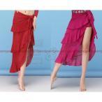 ベリーダンス衣装ロングスカートレディースダンス衣装レッスン着ベリーダンス衣装ロング丈ラテンダンス衣装シースルー大人ルンバラメ素材