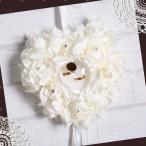 リングピロー ウエディングリングピロー ハートピロー おしゃれ シンプル ローズ 完成品 バラ薔薇 ウエディング 結婚式 マリッジリング プロポーズプレゼント148