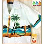 ショッピングアロハシャツ アロハシャツ メンズ BIGWAVE&LONG BOARDS ホワイト地 大きいサイズ有 ビッグウェーブ&サーフボード柄