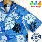 ショッピングアロハシャツ アロハシャツ メンズ ALOHA REPUBLIC ハワイブルー/サモア柄 ハワイ製 大きいサイズ有