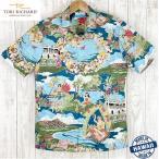 アロハシャツ TORI RICHARD トリリチャード  BOAT DAY ALOHA ビンテージデザイン フルボタンタイプ/コットン メンズ 海外ウェディング
