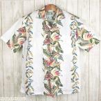 ショッピングアロハシャツ アロハシャツ メンズ KY'S HAWAII社製 ホワイト/バード・オブ・パラダイス ハワイ製 コットン