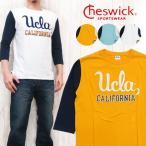 チェスウィック Cheswick Tシャツ 7分袖 ベースボール 「UCLA」 チェーン刺繍