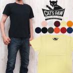 キャッツポウ CAT'S PAW ポケット付き 半袖 クルーネック Tシャツ