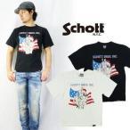 """ショット Schott 半袖プリントTシャツ""""70'sFlag"""" """"sch3103054"""""""