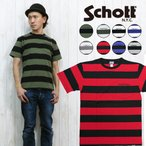 """ショット Schott ボーダー ポケット 半袖 Tシャツ クルーネック """"sch3153013"""""""