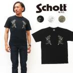 ショット Schott 半袖 プリント Tシャツ SKULL TATTOO 3193087