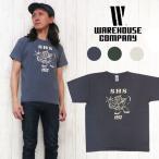 WAREHOUSE ウェアハウス 半袖 Tシャツ 「SHS」 プリント ユーズドウォッシュ 古着感 ヴィンテージ アメカジ メール便OK/