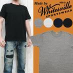 WHITES VILLE ホワイツビル クルーネック 針抜きリブ 無地 半袖 Tシャツ