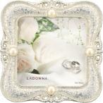 Yahoo!aqua earthLADONNA ブライダルフレーム メタル ホワイト 写真70 x 70mm MJ45-S2-WH