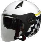 FS-JAPAN 【石野商会】 ルノー Wシールドジェットヘルメット ホワイト/グレー RN-999W