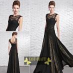 ロングドレス  /  高級ロングドレス カラードレス パーティードレス 演奏会用ロングドレス  /  ブラック 黒ドレス
