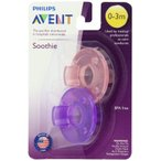 Philips フィリップス Avent Soothie Pacifier おしゃぶり 0‐3ヶ月用 ピンク1つ&パープル1つ計2個