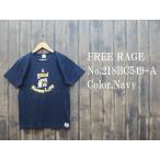フリーレイジ 'Harem Life'リサイクルコットンTシャツ FREE RAGE EASY NAVY 218AC549-A