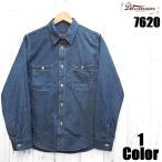 ショッピングデラックス 40'Sピンストライプドビーシャツ DELUXEWARE デラックスウエア EASY NAVY 7620