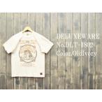 ショッピングデラックス 'ATSC'プリントTシャツ DELUXEWARE デラックスウエア EASY NAVY DLT-1802