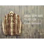 ショッピングデラックス '1948sAUTUMN'ヘビーネルシャツ DELUXEWARE デラックスウエア EASY NAVY HV-28