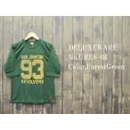 ショッピングデラックス 'REVOLER'5分袖フットボールTシャツ DELUXEWARE デラックスウェア EASY NAVY URES-04