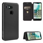 au GRATINA グラティーナ KYV48 Android One S6 アンドロイドワン 手帳型 薄型 炭素繊維カバー TPU 保護バンパー