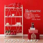 見せる オープン ロマンティックスタイルシリーズ Romarne ロマーネ|アイアンラック Aタイプ | フリーラック フリーボックス 多目的棚 (代引不可)