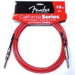 Fender フェンダー ケーブル California Cables 10' Candy Apple Red ギター・ベース用 シールド 【ネコポス ポスト投函】【代引は送料¥240追加】
