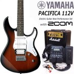YAMAHA ヤマハ PACIFICA パシフィカ 112V/OVS エレキギター マーシャルアンプ付 初心者セット16点 ZOOM G1Xon付き