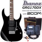 Ibanez アイバニーズ GRG170DX BKN エレキギター 初心者セット18点 VOXアンプ ZOOM G1XFour付き