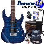 ショッピングギター Ibanez アイバニーズ GRX70QA TBB エレキギター 初心者セット16点 VOXアンプ ZOOM G1on付き