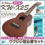 ウクレレ初心者セット K-WAVE KW-X2S クリップチューナー付きセット チューニングしやすいギアペグのウクレレ SJ