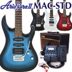 エレキギター 初心者セット VOXアンプ付 Aria Pro II アリアプロ2 MAC-STD III/PWH 初心者セット16点 ZOOM G1Xon付き