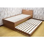 親子ベッド 2段ベッド 二段ベッド シングル コンセント 照明 フレームのみ スライドベッド キャスター付き モダン 子供部屋 ベット カジュアル シングルベッド