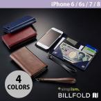 iPhone7 ケース Simplism iPhone 6 / 6s / 7 Billfold フリップノートカードケース ネコポス不可