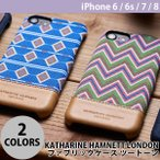iPhone8 / iPhone7 Simplism KATHARINE HAMNETT LONDON ファブリックケース ツートーン iPhone 8 / 7 / 6s / 6 ネコポス可