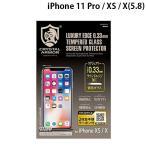 iPhoneX 保護フィルム GILD design ギルドデザイン iPhone X クリスタルアーマー ラウンドエッジ強化ガラス 0.33mm GI08-33 ネコポス可