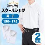 2枚入り 男子スクールシャツ 長袖  ワイシャツ 学生服 形態安定 抗菌防臭 制服 標準体型A体用 カッターシャツ 150サイズ〜175サイズ