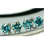 SIクラス品質の良質ブルーダイヤモンド