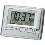 リズム時計 8RZ126DN19(シルバーメタリック) ジャストウェーブR126DN 電波目覚まし時計