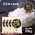 米 お米 20kg 白米 魚沼産コシヒカリ 20kg (5kgx4袋) うるち米 精白米 平成29年産 送料無料 (北海道四国九州へは追加送料500円)