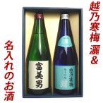 ショッピングさい 日本酒 お酒 名入れの日本酒 飲み比べ ギフトセット 名入れ日本酒&越乃寒梅 灑(さい) 720ml×2本