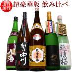 日本酒 純米大吟醸入り大吟醸、越乃寒梅吟醸酒飲み比べセット1.8L×5本(送料無料)