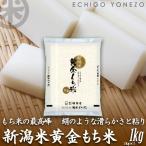 新米02 新潟産黄金もち米 1kg (1kg×1袋) 黄金餅米100% 新潟県