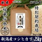 28 新潟産コシヒカリ 伝承米 (伝統自然農法) 25kg (5kg×5袋) 新潟米 お米 こしひかり 送料無料