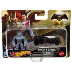 マテル バットマンvsスーパーマン/ジャスティスの誕生 ホットウィール ミニフィギュア&ダイキャストカーパック アーマードバットマン&バットモービル