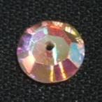 [DA113]スワロフスキー 縫い付けラインストーン#3188(旧#3128)ソーオン 6mm クリスタルAB 5ケ【ビジュー/デコレーション】[RPT]