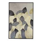 (スパイス)Calm アート ゴールド&ブラック リーフ 品番:HPDN1901
