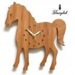 インスパイア&イノベーション Made in America DECOYLAB(デコイラボ) 掛け時計 HORSE うま (2419bu)
