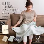 ショッピングひざ掛け ひざ掛け ブランケット 65×100 日本製 三河木綿 ふんわりやさしいガーゼケット ブル